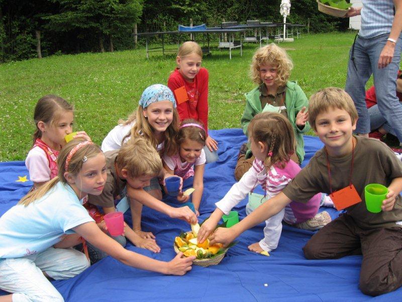 Kinderfeier im Freien